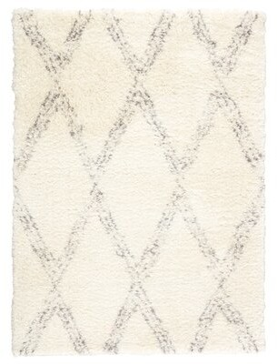 "House of Hampton Lismore Trellis Ivory/Gray Area Rug House of Hampton Rug Size: Rectangle 3'10"" x 5'7"""