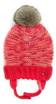 Tommy Hilfiger Big Girl's Fur Pom-Pom Tie Hat