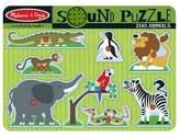 Melissa & Doug ; Zoo Animals Sound Puzzle - Wooden Peg Puzzle With Sound Effects (8 pcs)