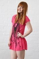 Lauren Moshi Piper Gypsy Girl Swing Tee in Raspberry