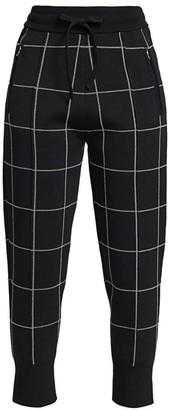 3.1 Phillip Lim Double-Faced Check Joggers