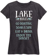 Instant Message Women's Women's Tee Shirts HEATHER - Heather Charcoal 'Lake Rules' Relaxed-Fit Tee - Women