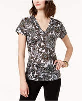 INC International Concepts Beaded V-Neck T-Shirt, Created for Macy's
