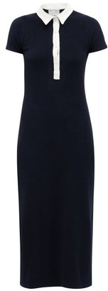 Giuliva Heritage Collection The Daphne Collared Cotton-blend Midi Dress - Womens - Navy Multi