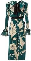 Johanna Ortiz Green Silk Jumpsuit for Women