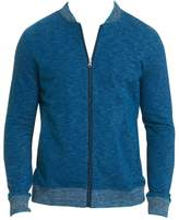 Robert Graham Kaison Cotton Slub Zip-Front Knit