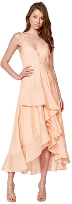 Bardot Sara Frill Dress (Peach Stripe) Women's Dress