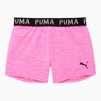 Puma Alpha Girls' Space-Dyed Jacquard Waistband Shorts JR