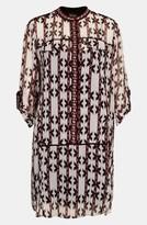 Topshop Geometric Print Shift Dress