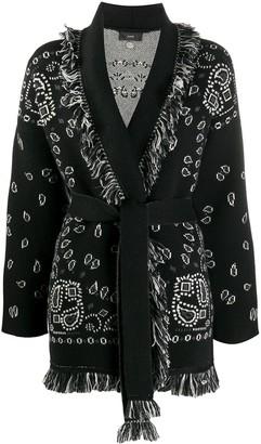 Alanui Knitted Paisley Pattern Cardigan