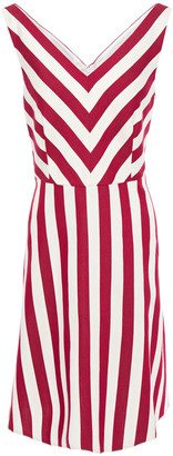 RED Valentino Striped Cotton And Silk-blend Twill Dress