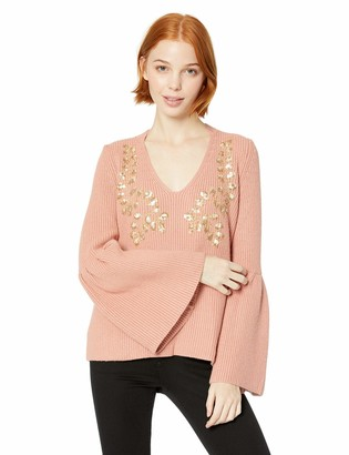 Miss Me Junior's Bell Sleeve Embellished Sweater