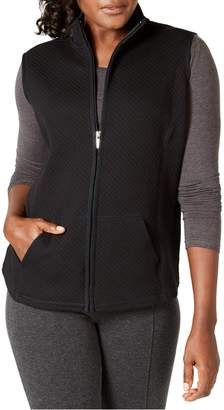 Karen Scott Petite Quilted Zip-Front Cotton-Blend Vest