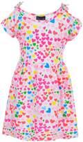 Sweet & Soft Little Girls' Cold Shoulder Dress