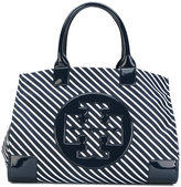 Tory Burch striped tote bag - women - Nylon - One Size