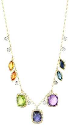 Meira T 14K Yellow Gold & Multi Stone Necklace