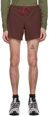 District Vision Burgundy Spino 5 Training Shorts