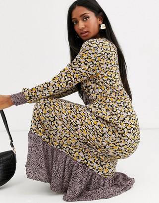 Vila mix floral print maxi dress