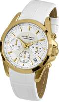 Jacques Lemans Liverpool 1-1752D 35mm Gold Tone Case White Calfskin Mineral Women's Watch