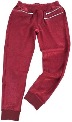 Zoe Karssen Red Cotton Trousers for Women