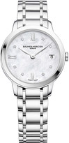 Baume & Mercier 10326 Classima stainless steel and diamond watch