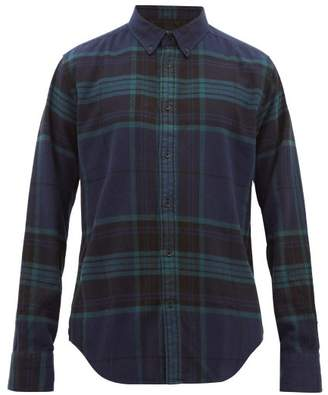 Rag & Bone Tomlin Checked Cotton Shirt - Mens - Blue Multi