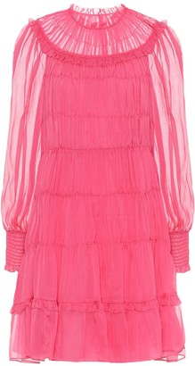 Ulla Johnson Emmeline pleated silk minidress