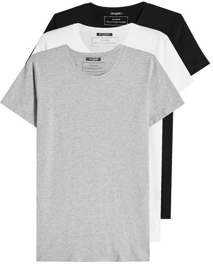 Balmain Pack of 3 Cotton T-Shirts