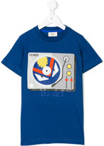 Fendi DJ-Set print T-shirt