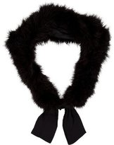 Cassin Black Feather Stole