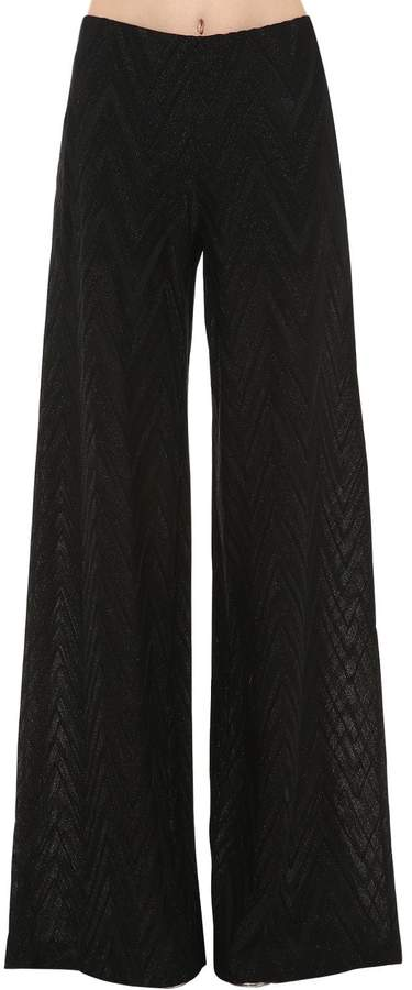 M Missoni Wide Leg Lurex Jersey Pants