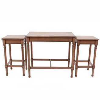 Décor Therapy 3 Pack Wood Nesting Tables
