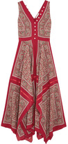Altuzarra Clemmie Paisley-print Silk Maxi Dress - Red