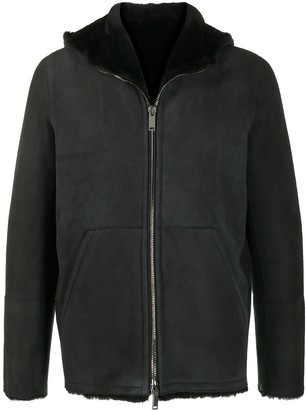 Tagliatore Shearling-Lined Hooded Jacket