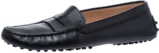 Tod's Black Leather Penny Loafer Size 39