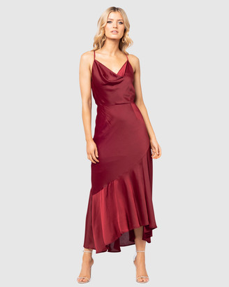 Pilgrim Women's Red Maxi dresses - Haven Gown - Size One Size, 14 at The Iconic
