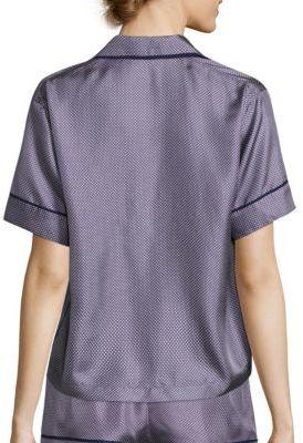 Araks Shelby Dotted Silk Twill Pajama Top