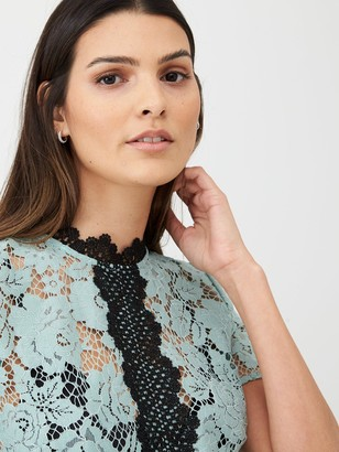 Very Lace Contrast Detail Blouse