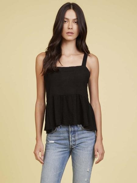 Nation Ltd. The Giovana Tie Back Top In Black - L