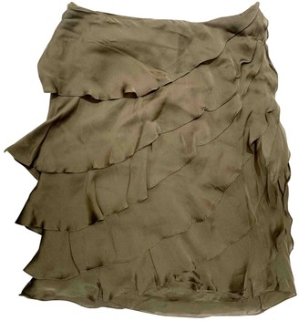 Ralph Lauren Khaki Silk Skirt for Women