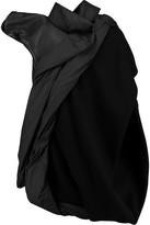 Rick Owens Asymmetric paneled leather and wool-blend jacket