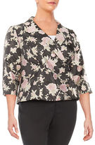 Alex Evenings Plus Floral Wrap Jacket