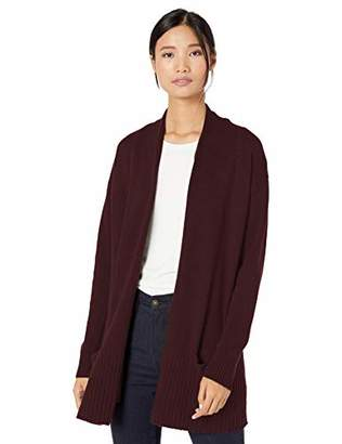 Goodthreads Wool Blend Jersey Stitch Cocoon Sweater Cardigan,S