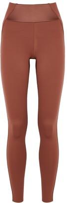 Vaara Kari terracotta panelled leggings