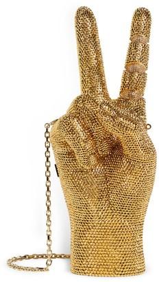 Judith Leiber Crystal-Embellished War And Peace Clutch Bag