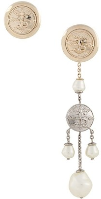 Ermanno Scervino Clip-On Asymmetrical Earrings