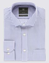 Marks and Spencer Performance Pure Cotton Non-Iron Bold Striped Shirt