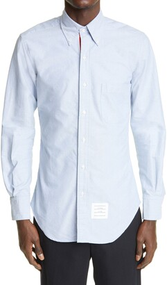 Thom Browne Grosgrain Placket Oxford Button-Down Shirt