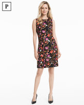 White House Black Market Petite Embroidered Floral Sheath Dress