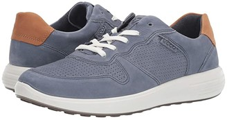 Ecco Soft 7 Runner Perforated (Mahogany/Lion) Men's Shoes
